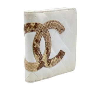 Chanel Bags - Cambon Quilted Ligne Python CC Compact French Wall